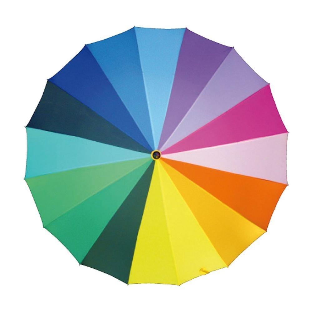 Extra Großer Regenschirm Regenbogen Partnerschirm XXL Multicolour Portierschirm