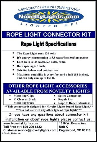 American Lighting RL-CL-150 1-Reel 825-watt 1200 Lumens 120V Incandescent Rope Light Reels, Dimmable, 150-Feet, Clear by American Lighting (Image #4)