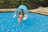 "Best Pool Central Floating Chairs - 40.5"" Blue Inflatable Swimming Pool Water Sofa Lounge Review"