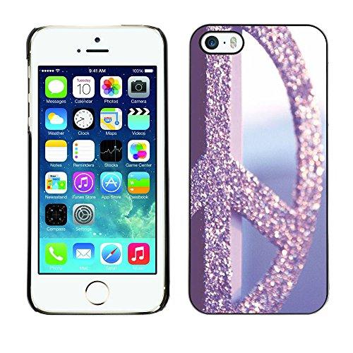 Ziland / Premium Slim HD plastique et d'aluminium Coque Cas Case Drapeau Cover / Vignette Retro Glitter / Apple iPhone 5 / 5S
