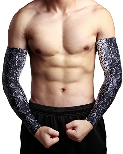 Tattoo Forearm Sleeve Compression Arm Elbow Cover Pattern...