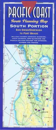 (Pacific Coast Route Planning Map, South Portion: San Diego/Ensenada to Fort Bragg- Laminated)