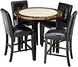 Cheap 247SHOPATHOME IDF-3188PT-40-5PC Dining-Room-Sets, Black