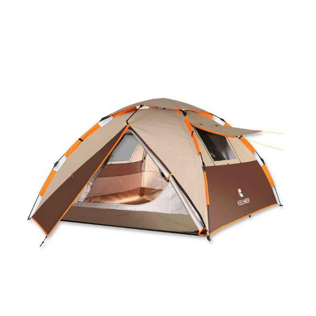 NINI Outdoor-Zelt Double Rainproof 3-4 Person Instant Automatische Zelt Anti Wind Un