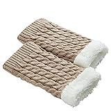 Women Winter Warm Knit Leg Warmers Crochet Leggings Slouch Boot Socks Velvet Duseedik