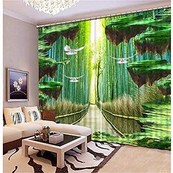 Amazon.de: Eqwr Hohe Qualität Gardinen Fenster Bambus ...