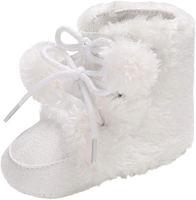 Baohooya Zapatos de Bebe Niña Invierno - Botas de Color Liso con ...