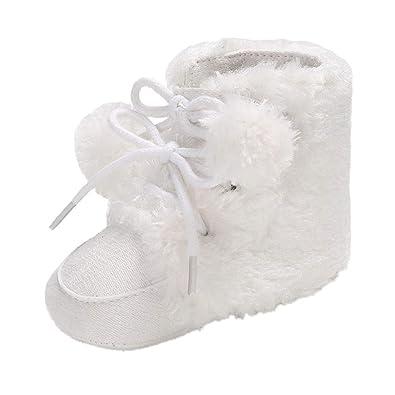39e084a84df43 Coloré(TM Enfant Bottes de Neige Hiver Fille Bébé Bottes d hiver Fourrure  Chaudes Antidérapant Sole Souple Bottines Ski  Amazon.fr  Chaussures et Sacs