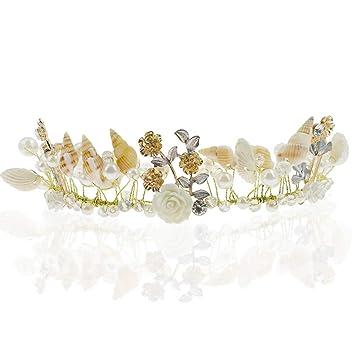 Amazon.com: Corona de princesa para boda con diseño de ...