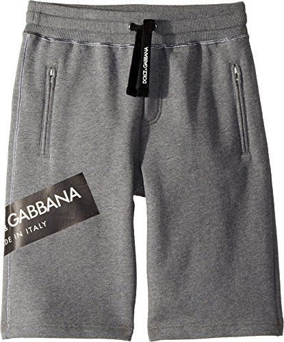 Dolce & Gabbana Kids Boy's Bermudas (Big Kids) Grey 10 by Dolce & Gabbana