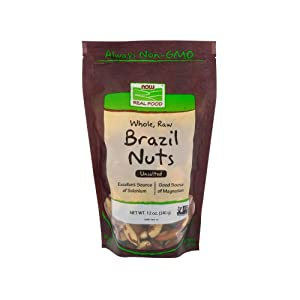 NOW Foods Brazil Nuts, Raw, 12-Ounce Bag