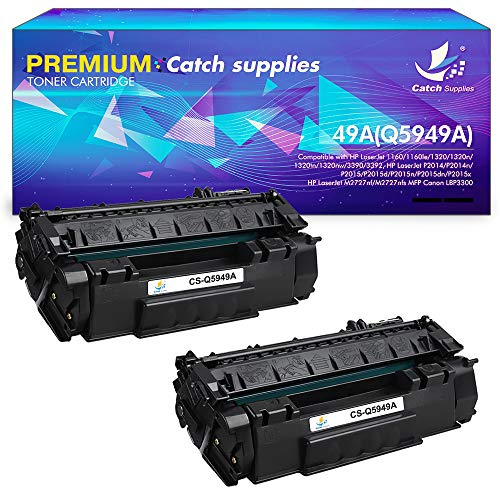 (Catch Supplies Compatible Toner Cartridge Replacement for HP 49A Q5949A 53A Q7753A P2015 Toner Cartridge HP Laserjet P2015 1320 1160 3390 M2727nf 1320n P2015dn P2015d 1320tn 1320nw 3392 P2014 P2015dn)
