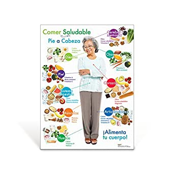 Amazon.com: Older Adult Healthy Eating from Head to Toe Spanish Poster: Industrial & Scientific