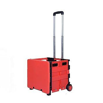 Carritos de la compra hogar Comprar carritos de Comida carritos pequeños Pueden ser doblados vehículos Push-Pull Pueden soportar Peso: Amazon.es: Hogar
