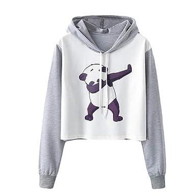 eb8a6a547b ❤️Meilleure Vente! LuckyGirls Mode Femmes Nouveau Automne Hiver Sweatshirts  pour Les Femmes Pulls Hip Pop Dabbing Danse Licorne Imprimé Hoodies Blanc  ...
