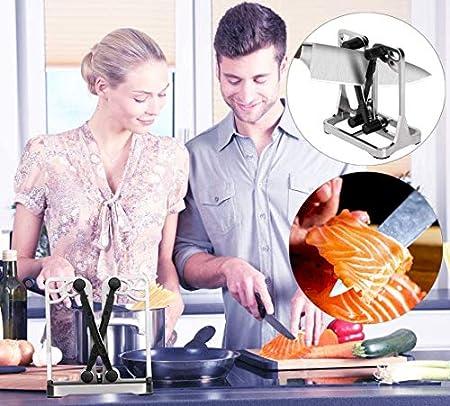 Dealswin - Afilador de Cuchillos de Cocina Profesional Manual para Todo Tipo de Herramientas de Cocina - Knife Sharpener