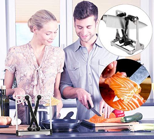 Dealswin affilacoltelli da Cucina Professionale e Manuale, per Tutti i Tipi di Utensili da Cucina 2