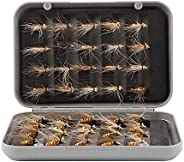 40Pcs Fly Fishing Lures, Mosquito Mayfly Dry Flies Trout Fly Fishing Lure Artificial Insect Fishing Hooks Tack