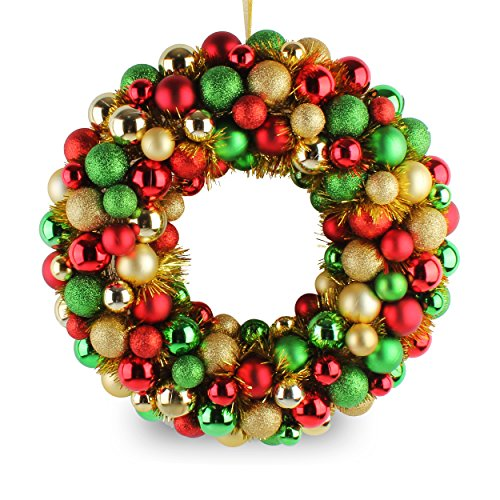 Jusdreen 16' Christmas Wreath Ball Ornaments Shatterproof Front Door Window Hanging Christmas Decorations Balls