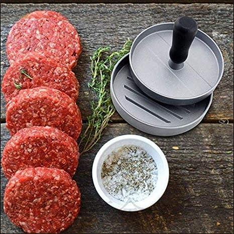 Patties BBQ Hamburgerpresse Set aus Aluguss f/ür leckere Hamburger Burger Presse mit Antihaftbeschichtung Hamburgerformer f/ür Burger und Pattiesmachte Burger