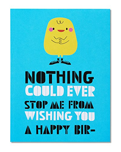 American Greetings Funny Squirrel Birthday Card with Foil