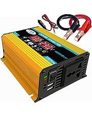 KKmoon Inversor de onda senoidal modificado de alta frequência 4000W Peak Power Watt Power Inverter Conversor DC 12V para AC 110V Inversor carregador de energia para carro com porta USB 2.1A clipes d