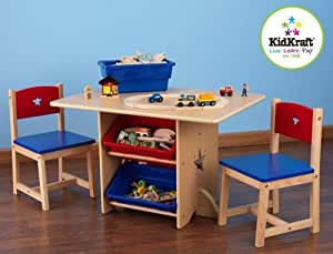 Amazon Com Kidkraft Star Table And Chair Set Kitchen