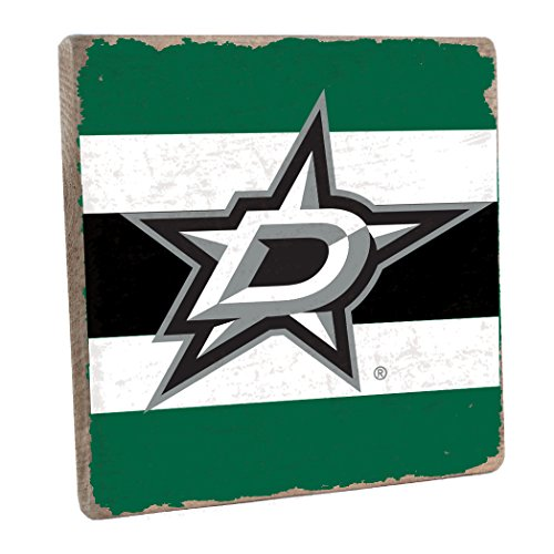 (Rustic Marlin Designs NHL Dallas Stars,Green, Vintage Square, 12