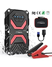 YABER Car Jump Starter, 1000A 13800mAh Car Battery Booster (Up to 5.0L Gasoline 3.0L Diesel) Emergency Power Pack with Smart USB Port and LED Flashligh
