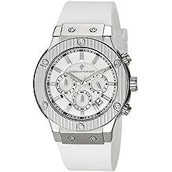 Christian Van Sant Men's CV8121 Monarchy Analog Display Quartz White Watch