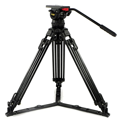 koolehaoda Heavy Duty Video Camera Tripod Fluid Drag Pan Head with 1//4 and 3//8 inches Screws Sliding Plate for DSLR Cameras Video Camcorders Shooting Filming,up to 13.2 pounds//6 kilograms.