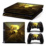 [PS4] Kredy Whole Body SKIN STICKER DECAL COVER for PS4 Playstation 4 System Console and Controllers - Gold / Black