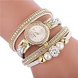 Women's Luxury Crystal Bracelet Watches Ladies Quartz Wristwatch Rhinestone Watches Round Analog Wrist Watches For Women Watches on Sale Clearance