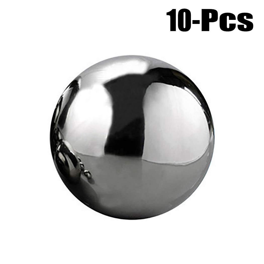 Justdolife 10 STÜCKE Stahlkugeln Poliert Festlager Ball Präzision Stahl Ball Pinball Ball