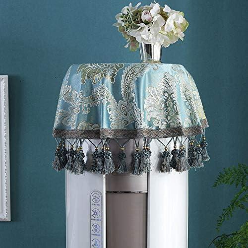 エアコンカバー 2の垂直方向のエアコン円筒家庭用ダスト布生地セット 防塵防湿エアコンカバー (色 : 青, Size : 90x90cm)