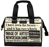 Sachi 34-176 Insulated Fun Prints Lunch Tote, New Print