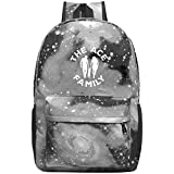 Kids Galaxy AC_E_E11e_Fami1y School Bag For Teens Boys Girls Student Casual Rucksack Waterproof School Backpack Daypacks