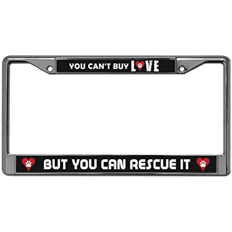 Amazon com: GND Custom License Plate Frame,Metal Chrome