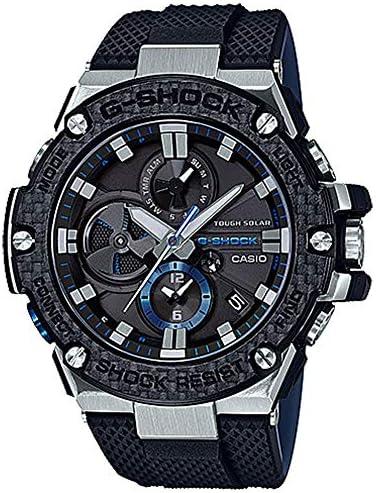 Men s Casio G-Shock G-Steel Black Carbon and Resin Bluetooth Watch GSTB100XA-1A