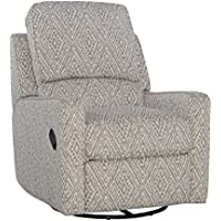 Opulence Home Perth Swivel Glider Recliner, Sweetwater Slate