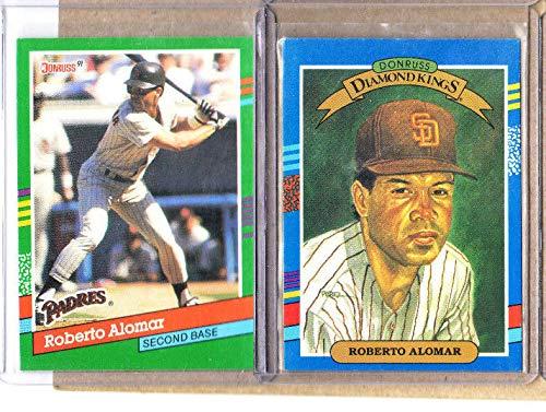 Roberto Alomar-2 Card Lot-1991 Donruss Diamond Kings+1991 - Rock Padres