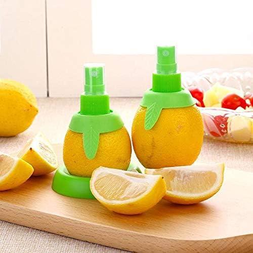tianluo Exprimidor Manual 2 Unids/Set Exprimidor De Limón, Rociador De Naranja, Jugo De Fruta Manual, Utensilios De Cocina Portátiles, Rociador De Limón para Exprimir