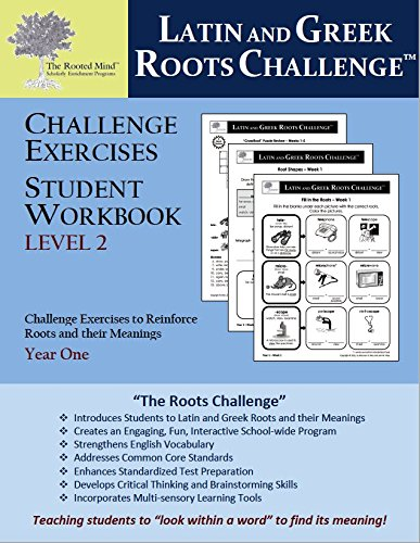 Latin and Greek Roots Challenge Workbook Level 2 (Grades 2-4) Year 1 - Challenge exercises to reinforce 75 roots and their meanings. Great summer enrichment with word roots and vocabulary! (Prefix And Suffix Exercises For Grade 5)