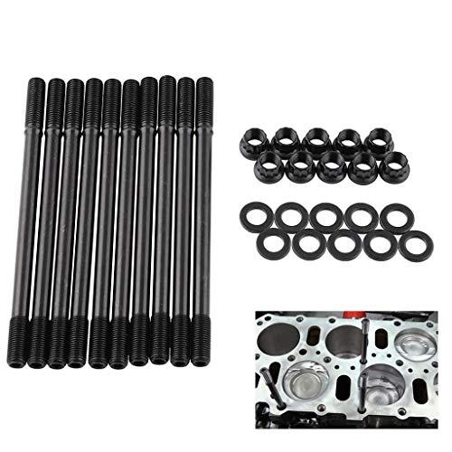 (Winner666 2019 New Cylinder Head Stud Kit Black for Honda Acura Integra GSR B18C1 B18C5 B20VTEC (Black))