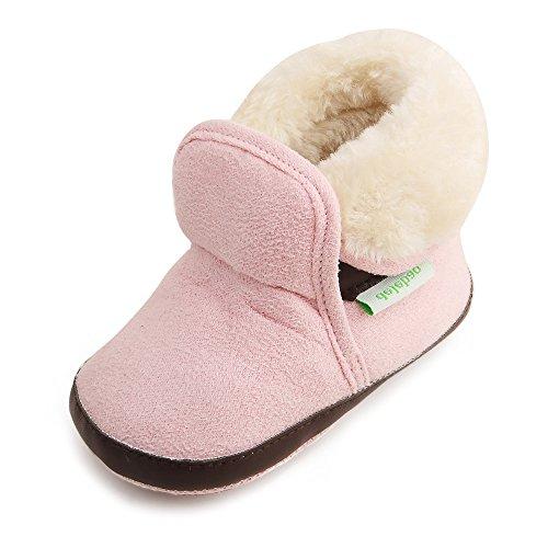 best sneakers a6413 2bfc8 Invernali con Pelo Scarpe Bambina Bambini Marrone Stivaletti ...