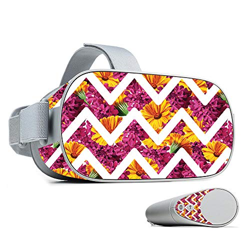 - MightySkins Skin Compatible with Oculus Go - Chevron Summer   Protective, Durable, and Unique Vinyl Decal wrap Cover   Easy to Apply, Remove, and Change Styles   Made in The USA