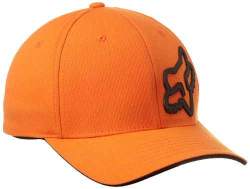 Fox Men's Signature Flexfit Hat, Orange, Small/Medium