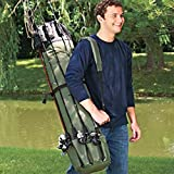 Fishing Rod Travel Carry Case Fishing Rod Reel Tools Wraps Holder Travel Carry Case Bag