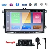 9 Inch Double Din Android Compatible for golf 8.1 Android CAR Stereo RADIO Video Receiver Quad Core System 2GB RAM GPS Navigation Bluetooth USB Radio Wifi 4G OBD2 DVR DVB-T DAB+