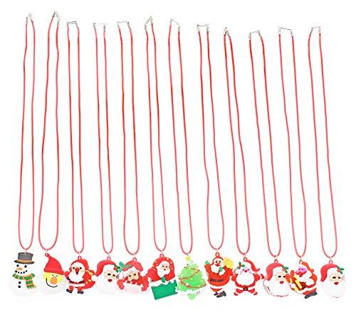 Light Up Christmas Bulb Necklace - San Tokra 12 Pcs Light Up